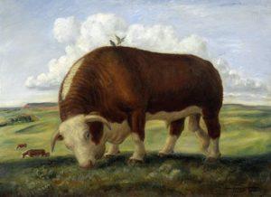 Rinder auf grünen Wiesen