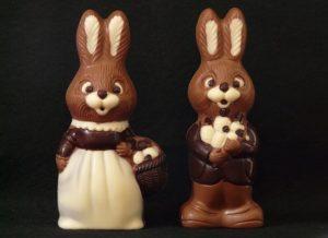 Der Osterhase aus Schokolade ist ähnlich wie der Weihnachtsmann ein beliebtes Geschenk