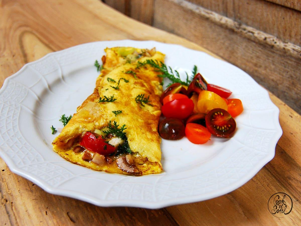Omelette mit Tomaten