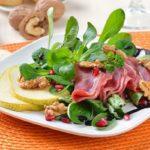 Feldsalat mit geräucherter Entenbrust und Ahorn Balsamico Dressing
