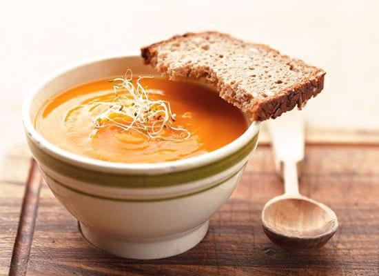Karotten Suppe mit Ingwer