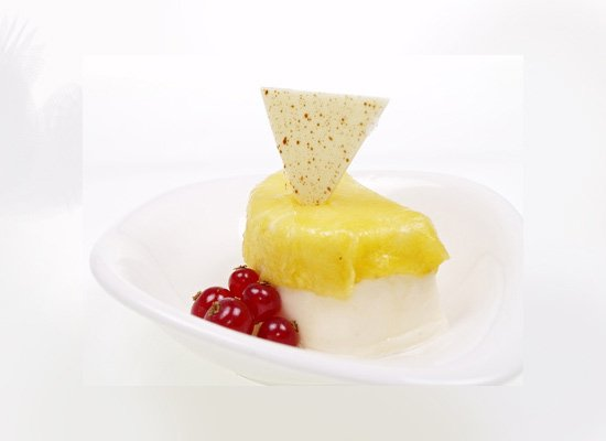 Kokosmousse Ananas