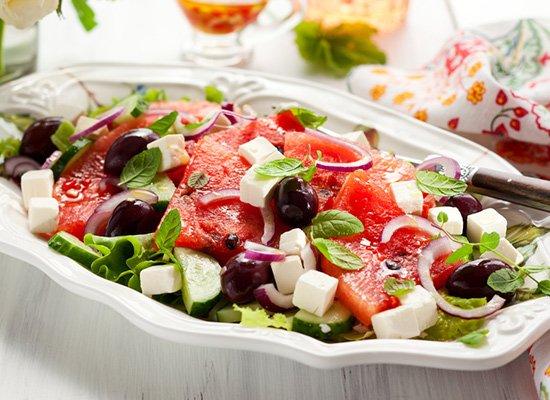 Wassermelone Salat