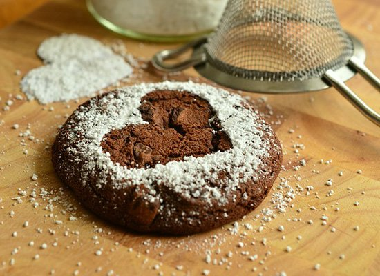 Schokoplätzchen Mit Walnüssen Und Dunkler Schokolade