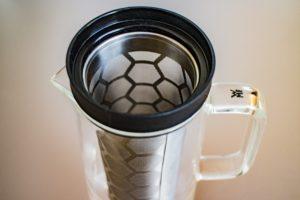 Die Aromawaben sorgen dafür, dass beim Brühen kein Kaffeesatz in die Kanne gelangt.