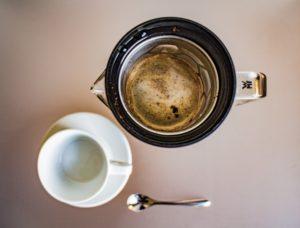 Kaffeesieb mit Aromawabenmuster