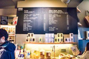 Die Getränkeauswahl der Aroma Kaffeebar