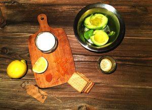 Vorbereitung der glutenfreien Vorspeise