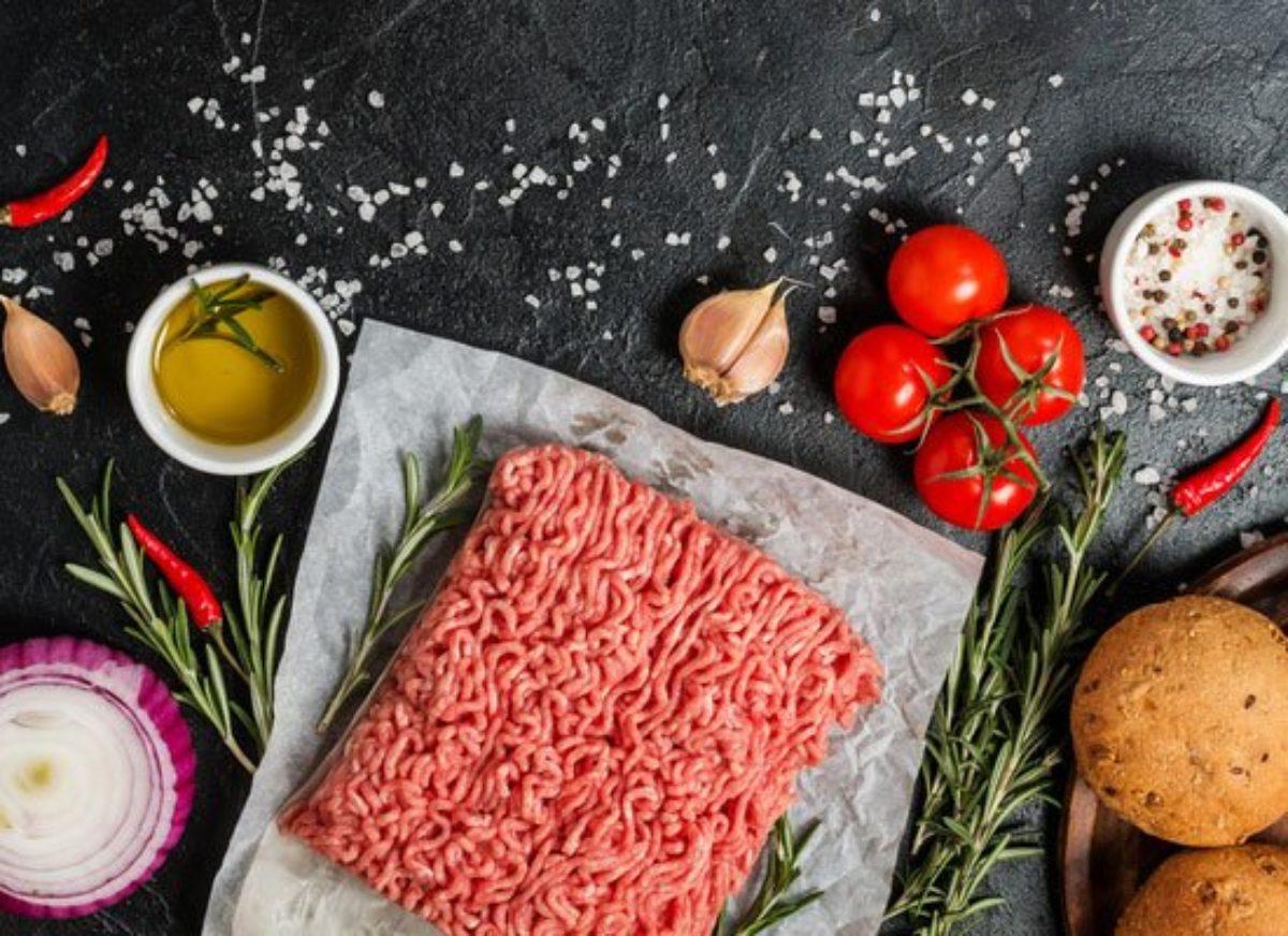 Ist grau hackfleisch Frisches Rindfleisch