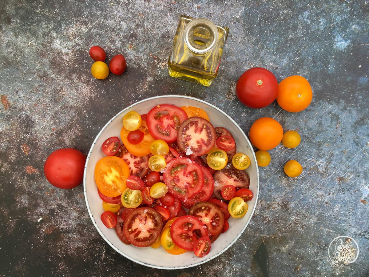einfacher Tomaten Salat