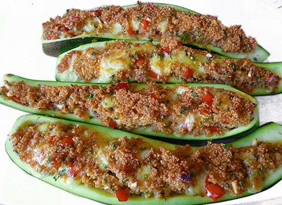 Zucchini aus dem Backofen