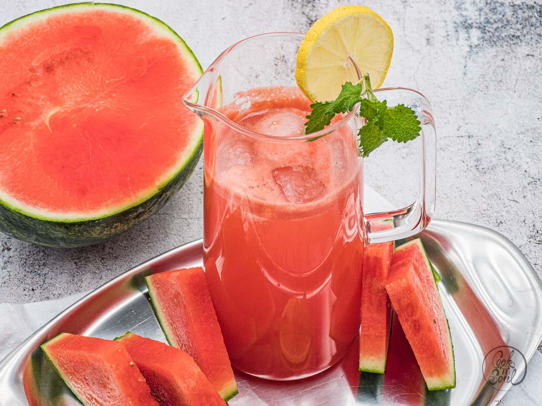 Wassermelonen Limonade selber machen