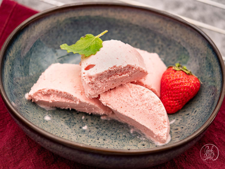 Erdbeer Eis selber machen