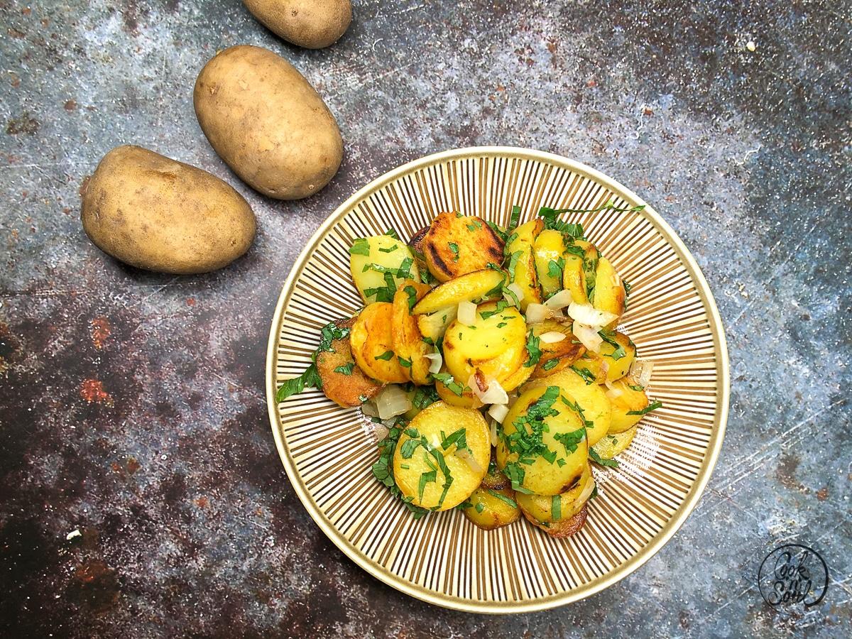 Bratkartoffeln mit Giersch