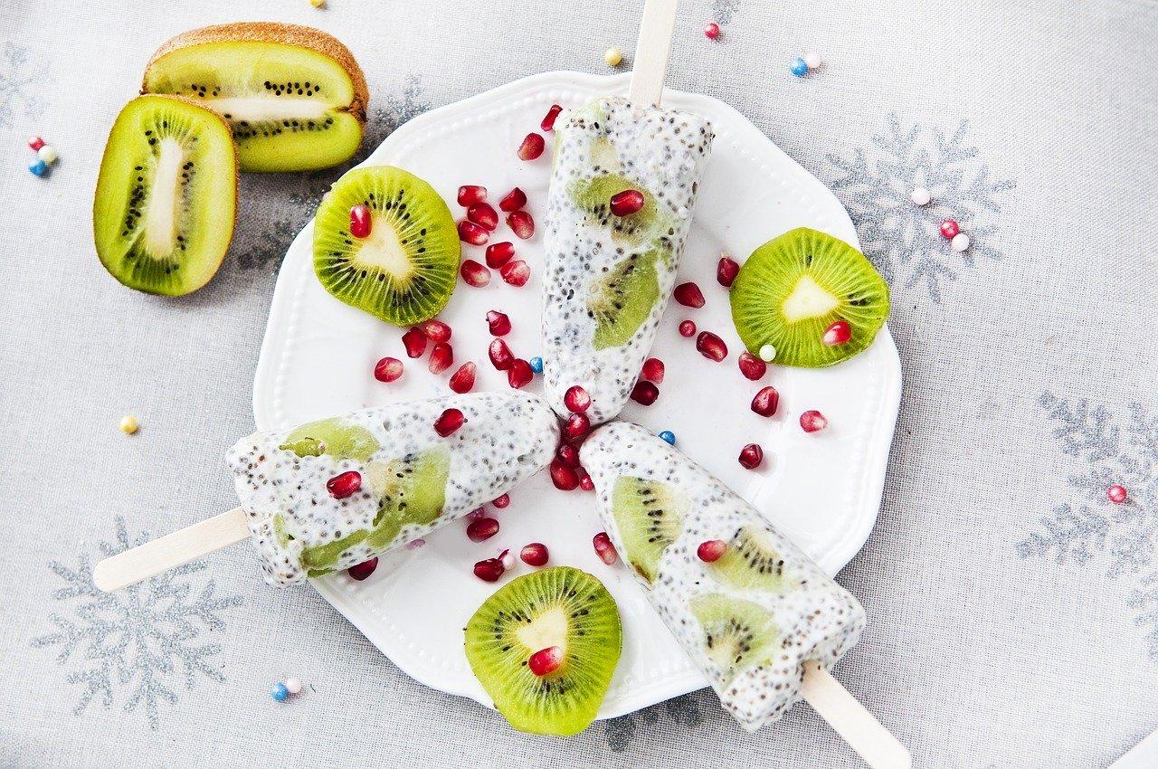 Chia Eis mit Kiwi Rezept