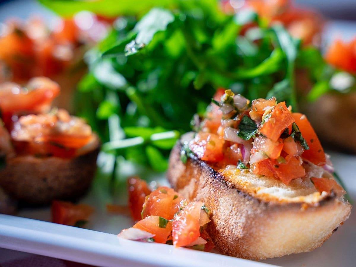 Vorspeise mit Tomate
