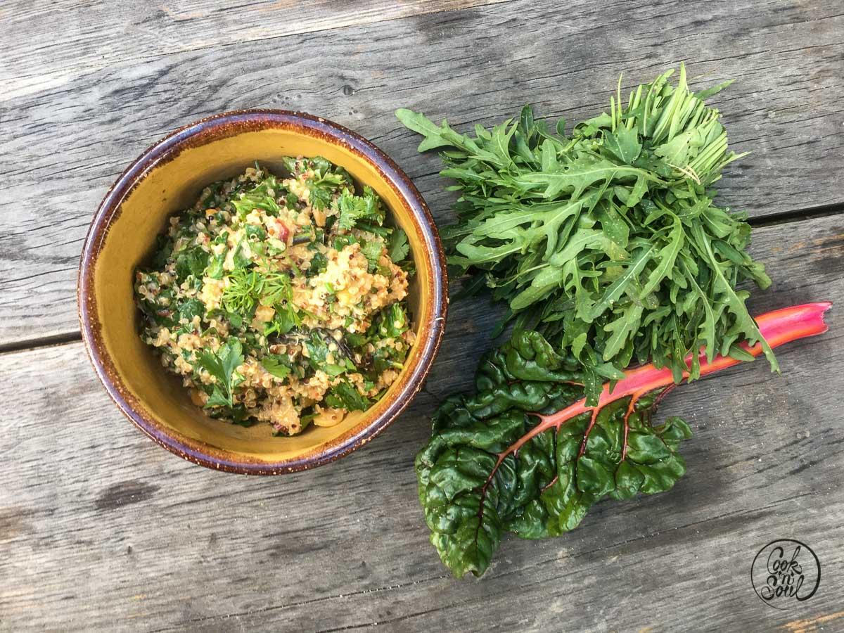 Mangold Quinoa Salat