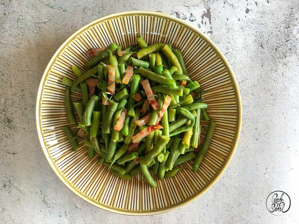 grüne Bohnen mit Speck