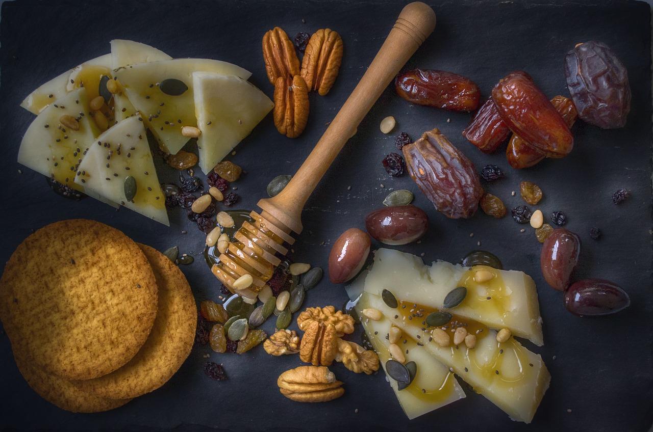 Häppchen Honig Cracker
