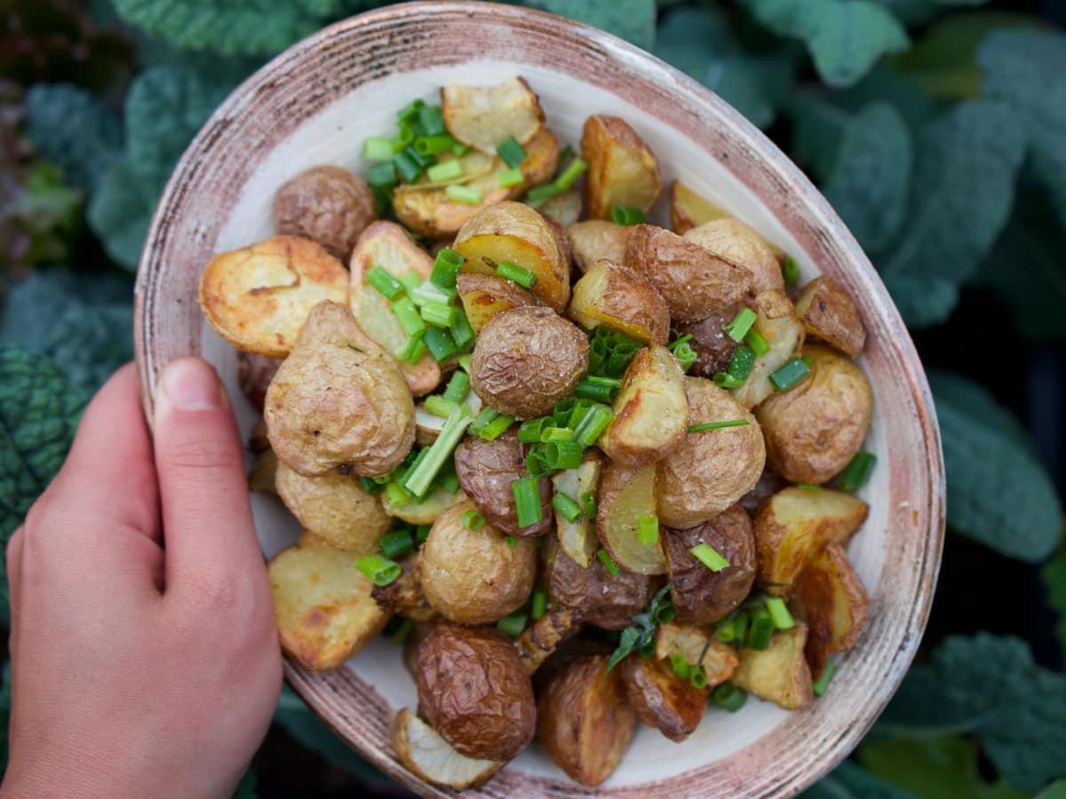 Bratkartoffeln aus gekochten Kartoffeln